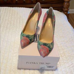 Ivanka Trump Brand new floral pumps
